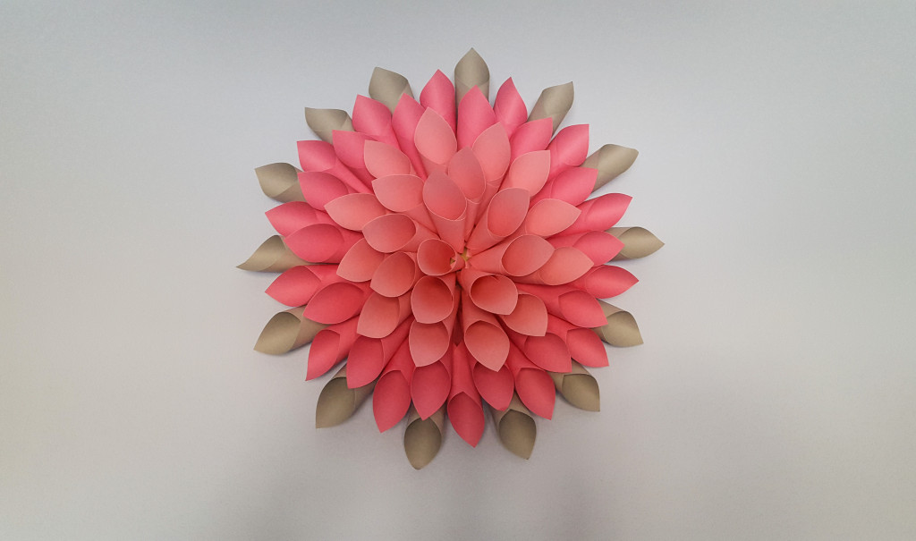paper craft dahlia flower