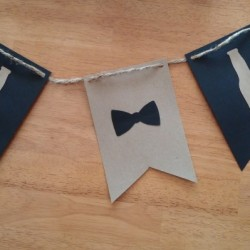 beer bottle bow tie birthday garland