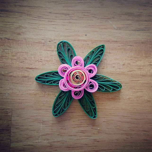 layered quilled flower