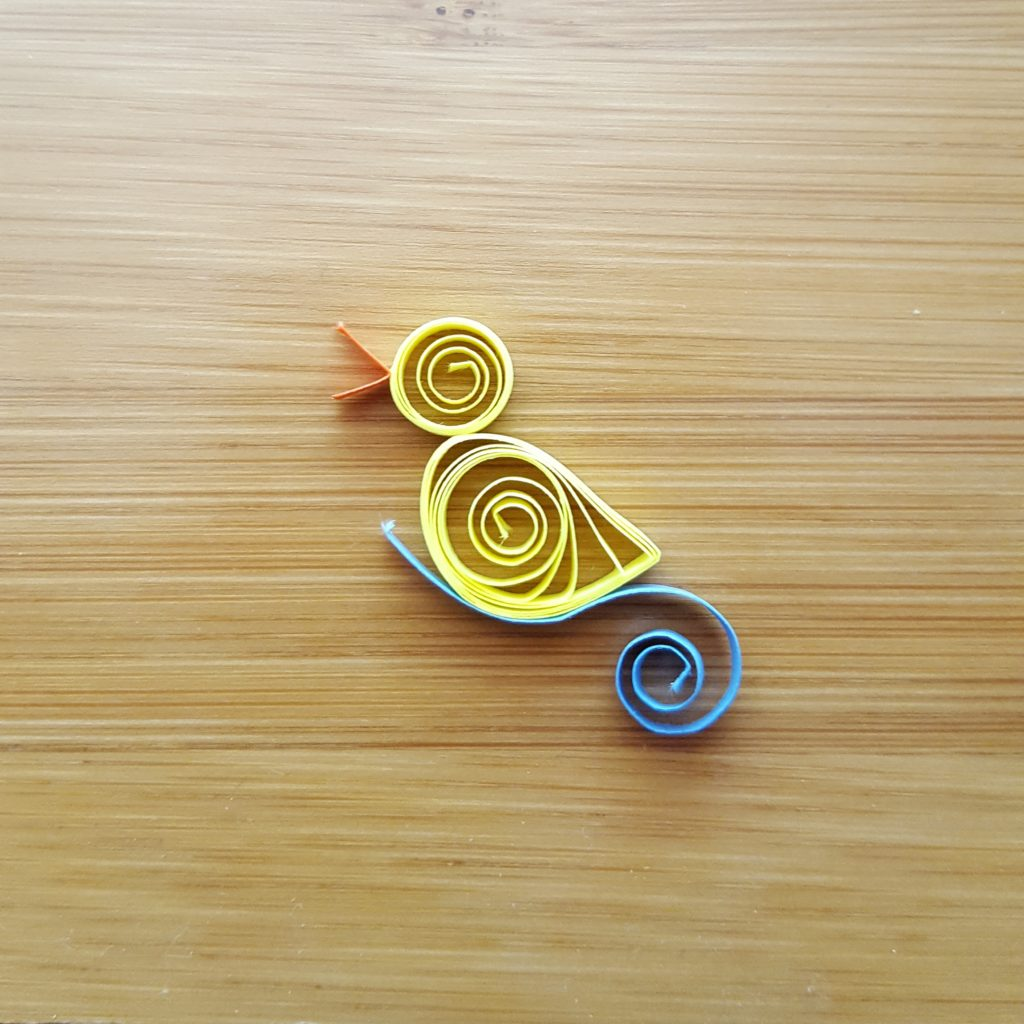 Quilling duck